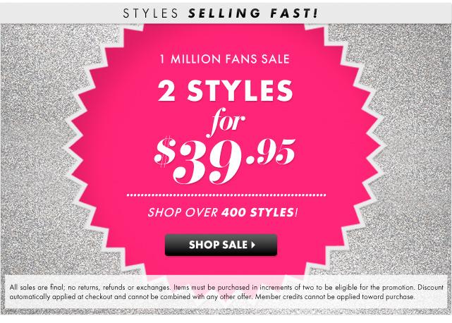 1 Million Fans Sale