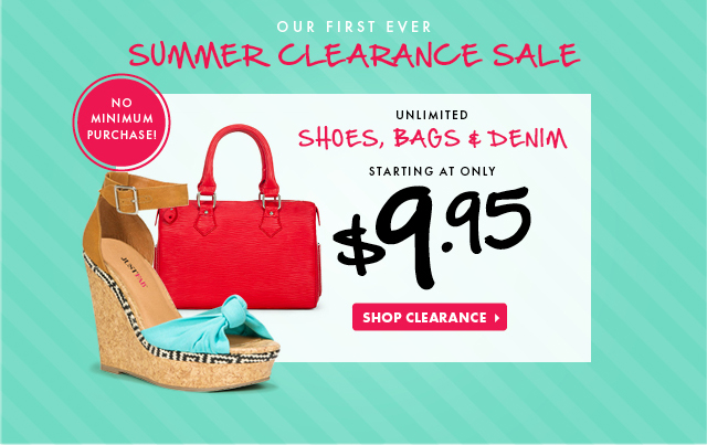 Our First Ever Summer Clearance Sale!