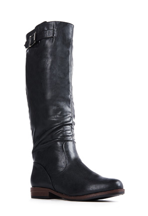 Womens Black Leather Boots - Cr Boot