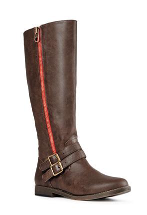 Joshlyn Cute Faux Leather Boots