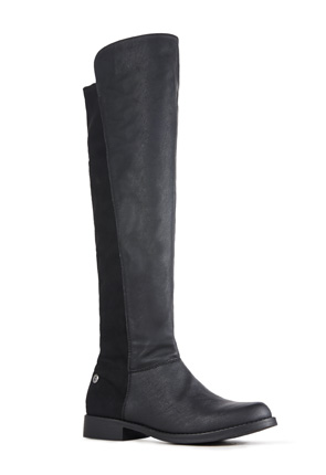 JF Laura Designer Faux Leather Boots
