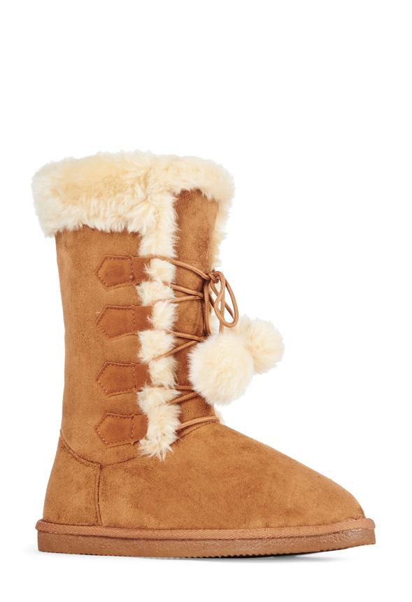 JustFab Juneau Womens Brown Size 10
