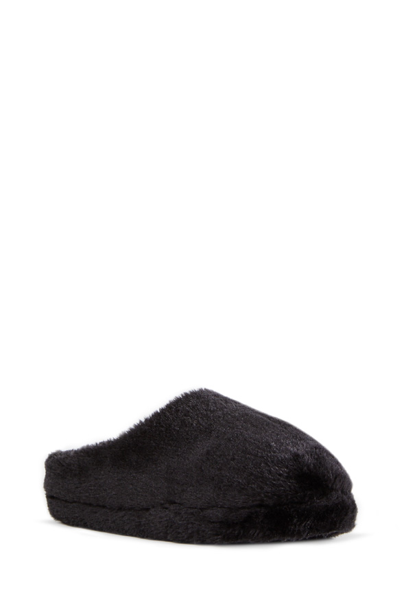Siberia is one fierce slipper! She's an extra furry fuzzie featuring cute all over black or leopard print faux fur.