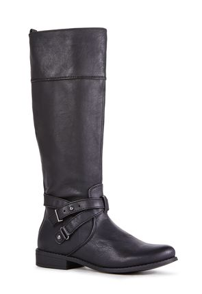 Callie Rust Faux Leather Boots