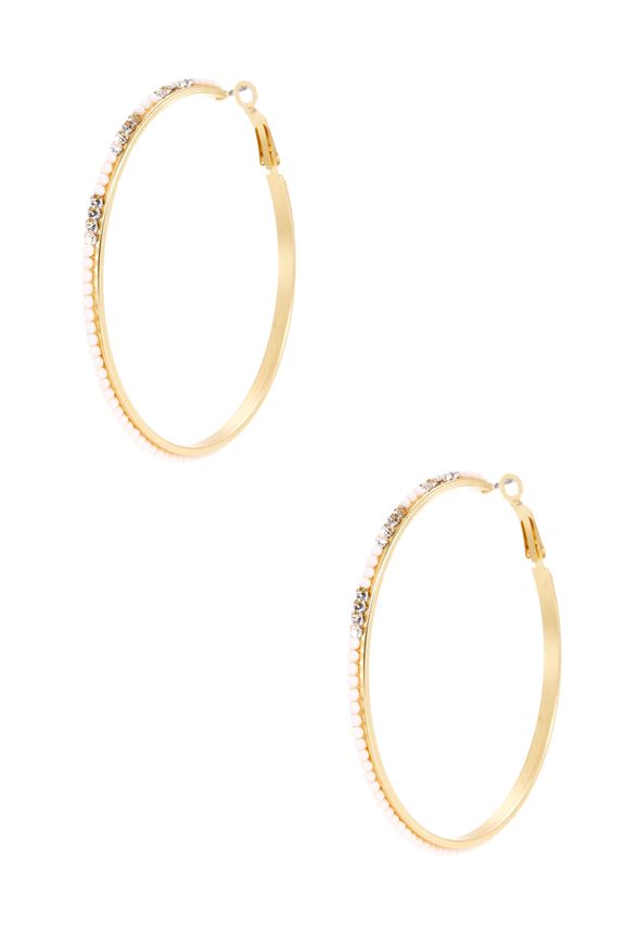 A fun twist to the modern hoop, these beauties add the right amount of color to any outfit. With beaded detailing and a lever closure, you're taking this hoop to the next level!