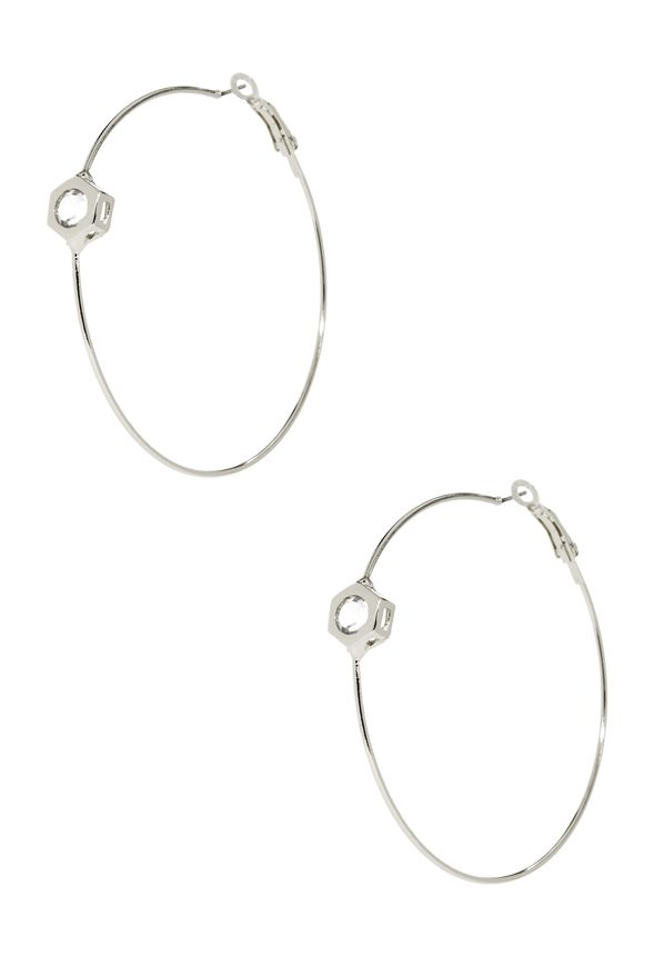 A dressier update on the classic hoop earring. These beauties go with everything, and the crystal stud helps up the ante of your elegance.
