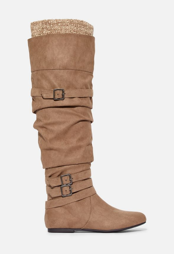 Clemm Sweater Cuff Over-The-Knee Boot