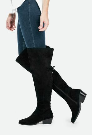 affordable thigh high boots flat lace up plus size