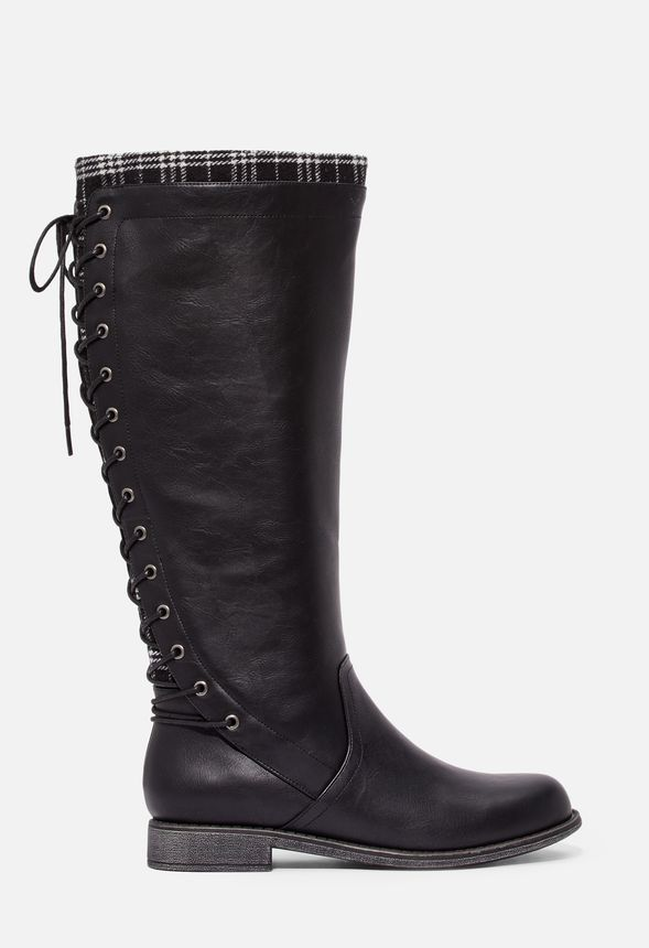 Elettra Lace-Up Back Flat Boot