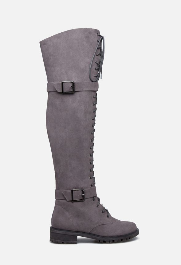 Piper Thigh-High Combat Boot