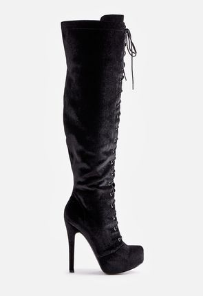 e7d07781ffb Womens Lace Up Boots - Knee High Tall Ankle High Heel  amp ...