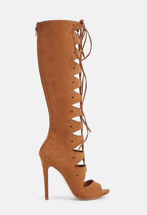 Womens Knee High Boots - Lace Up Flat Wedge High Heel &amp More!