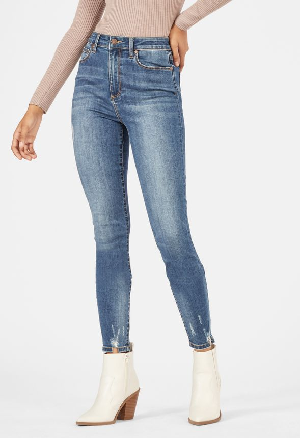 Harper High Waisted Distressed Skinny Jeans