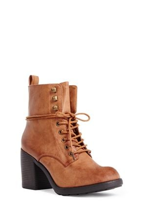 Serika Heeled Lace Up Boots