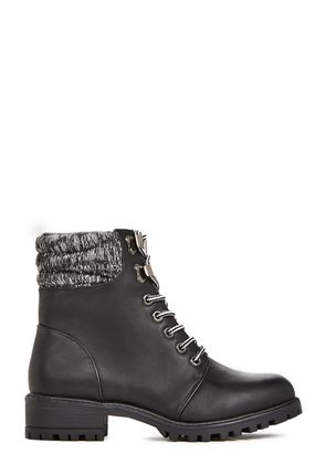 Cute Black Combat Boots - Cr Boot