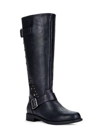 Devon Gray Faux Leather Boots
