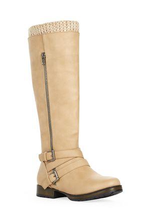 Sheela Discount Flat Boots for Women