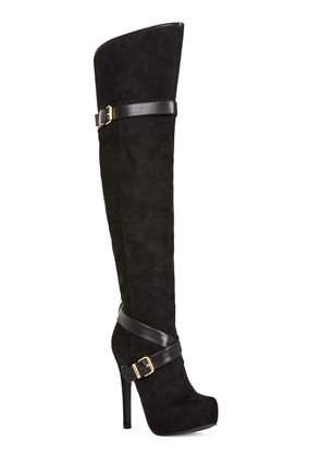 Knee High Winter Boots, Women's Leather Boots, Dress Boots, Black ...