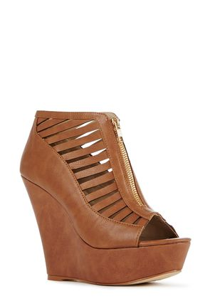 Brown Wedge Heels | Tsaa Heel
